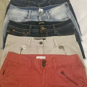 Ladies Slim Med Shorts, 5 pairs for price of 1